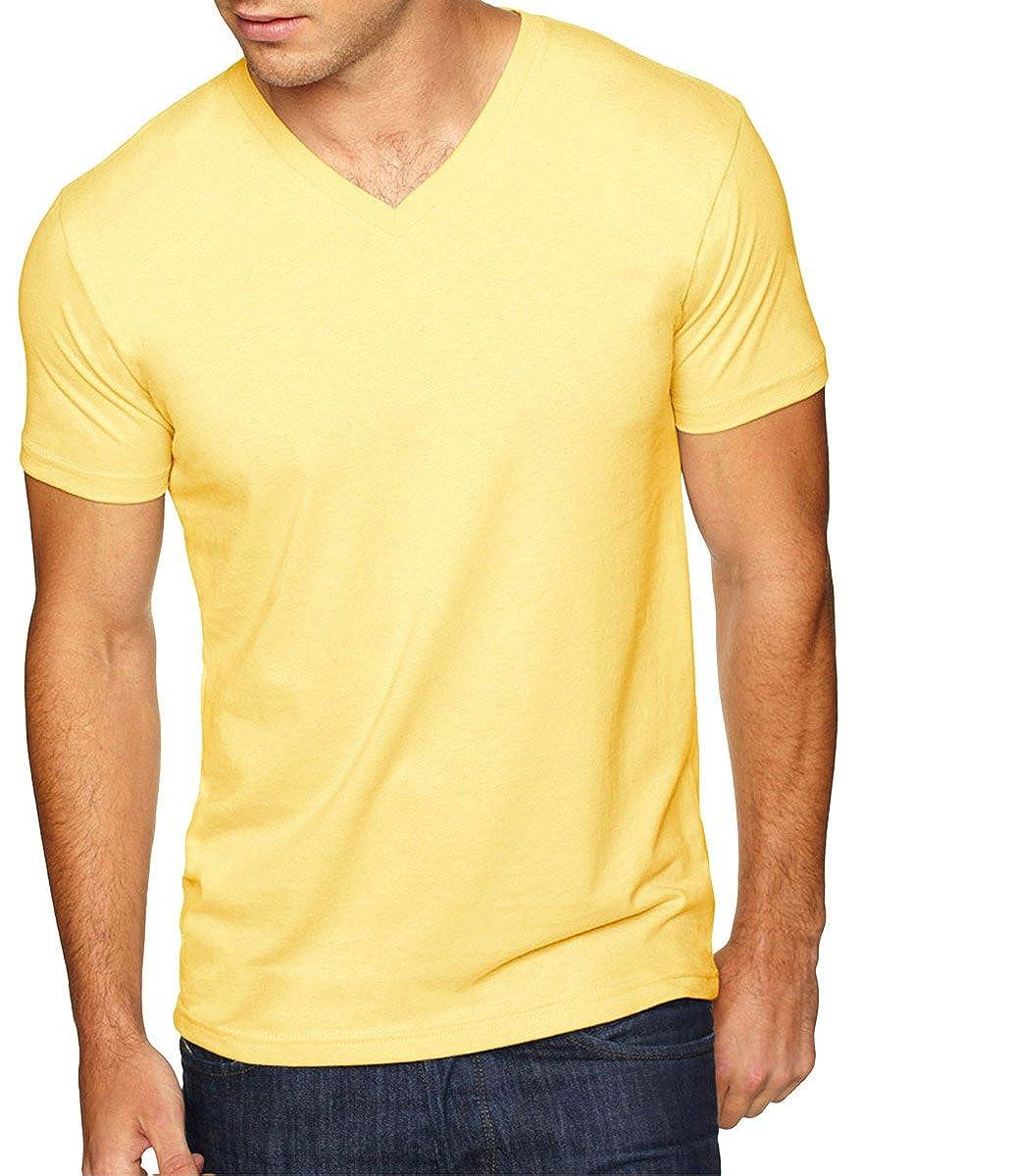 BANANA CREAM Next Level Mens Premium Sueded Short Sleeve V-Neck T-Shirt XL