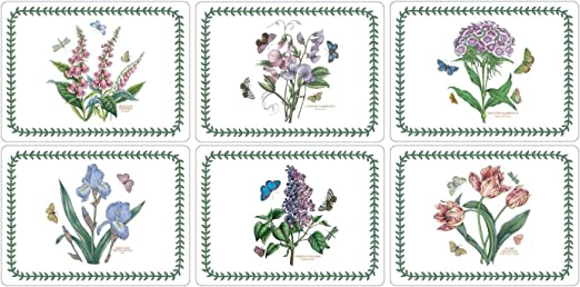 Amazon Com Portmeirion Botanic Garden Small Size Placemats 12 X 9 Set Of 6 Home Kitchen