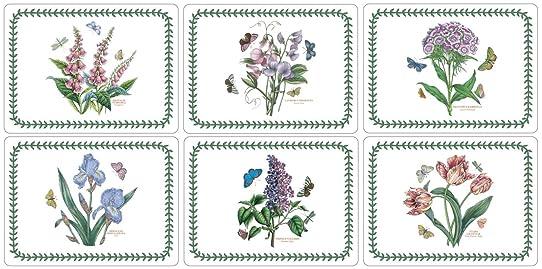 Pimpernel Lot de 6 sets de table assortis Motif jardin botanique ...