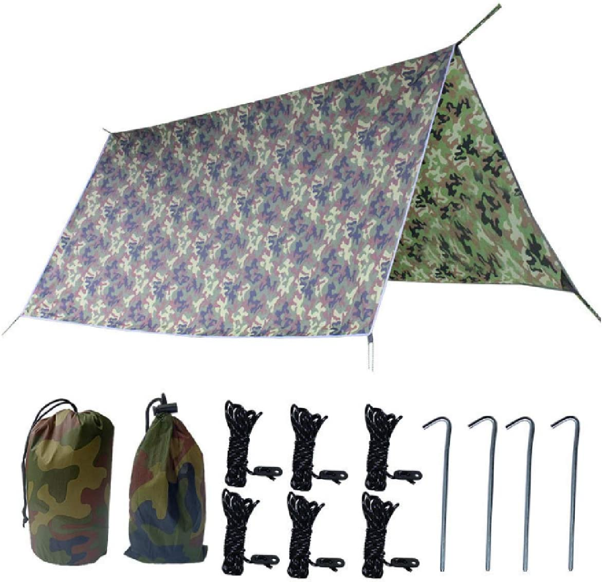 TRIWONDER Waterproof Hammock Rain Fly Tent Tarp Footprint Camping Shelter Ground Cloth Sunshade Mat for Outdoor Hiking Beach Picnic