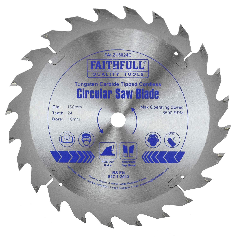 Faithfull - Trim Sä geblatt TCT 150 x 10 x 24 Zä hne - FAIZ15024C