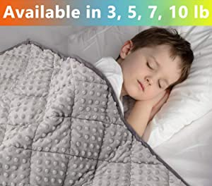 MAXTID Weighted Blanket for Kids 5lbs 36x48 Toddler Heavy Blanket Innovative One Piece Design for Boys and Girls