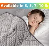 MAXTID Premium Weighted Blanket Set for Adults Kids, Organic Cotton, Light Grey, 36''×48'' 5lbs