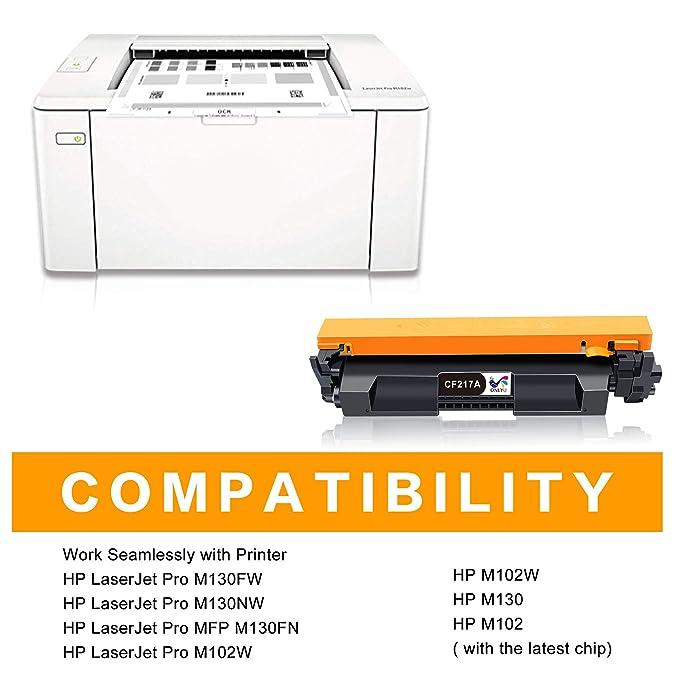 ONLYU CF217A Cartucho de Tóner HP17A CF217A Compatible con HP ...
