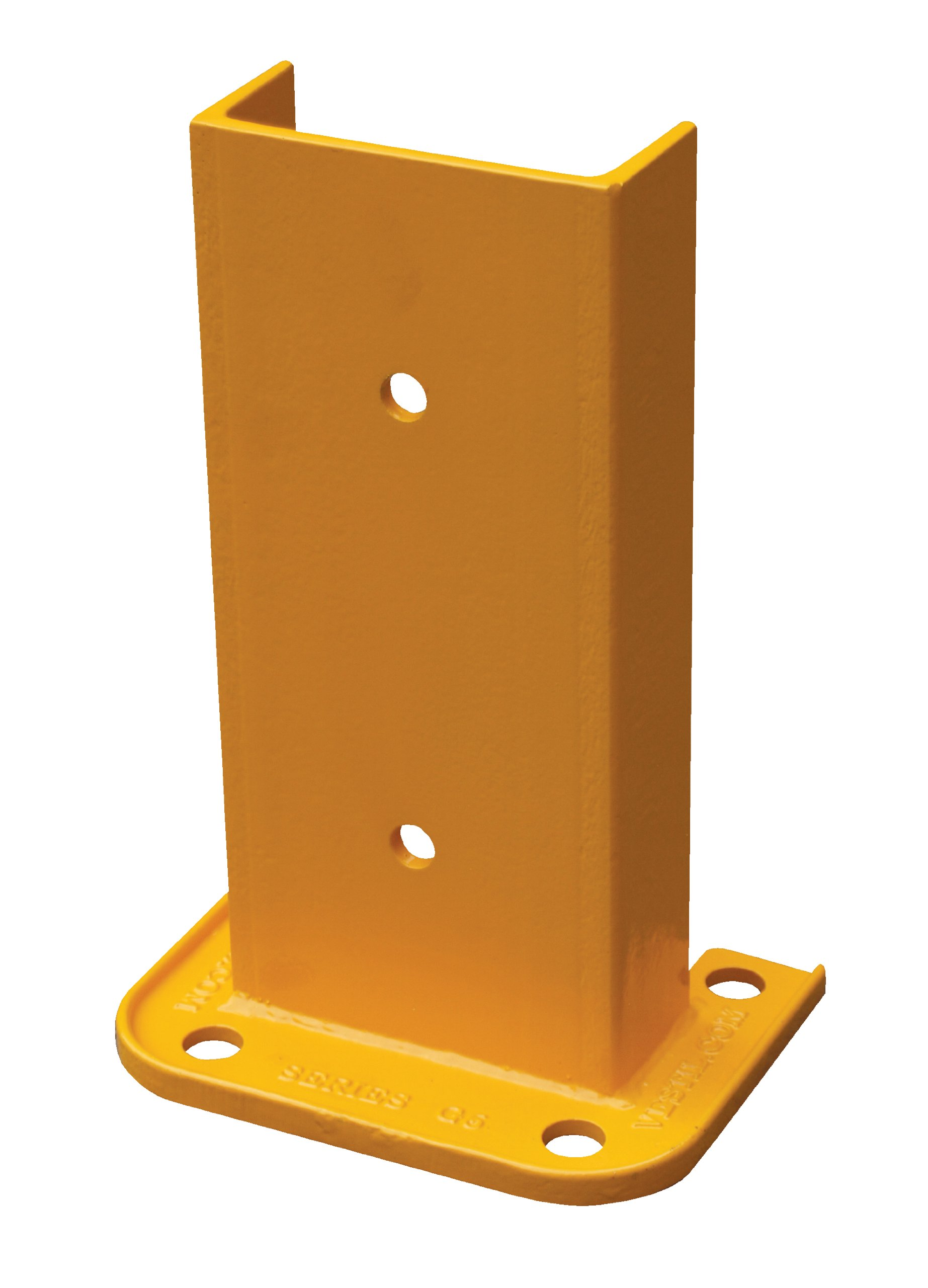 Vestil G6-12 Structural Steel Rack Guard, 4 Mounting Holes, 12-1/4'' Height, Base Measures 8-1/16'' x 6'', Safety Yellow by Vestil