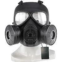 WISEONUS Maschera Softair Máscara Táctico Paintball CS Juego protección Maschera Caza con Doble Ventilador Turbo