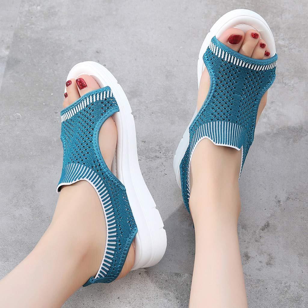 ✔ Hypothesis_X ☎ Men's and Women's Garden Clogs Shoes Sandals Slippers Roman Casual Flock Sandals Dark Blue by ✔ Hypothesis_X ☎ Shoes (Image #5)