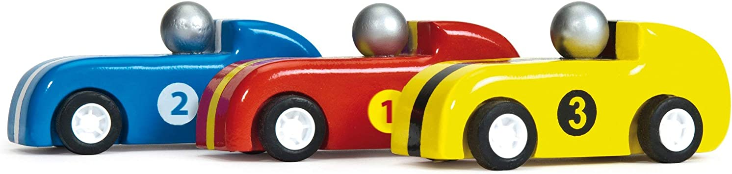 Scaled for Wooden Garage Sets Le Toy Van 3 Wooden Pullback Racers