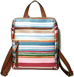 ELLIOTT LUCCA Lala St Wc Olvera Stripe Pink Multi Backpack