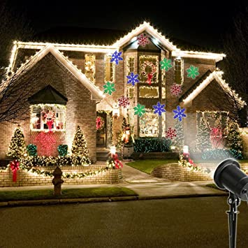Amazon marelight christmas decorations projector lights marelight christmas decorations projector lights outdoor moving rotating projector led spotlights waterproof projection led lights for aloadofball Images