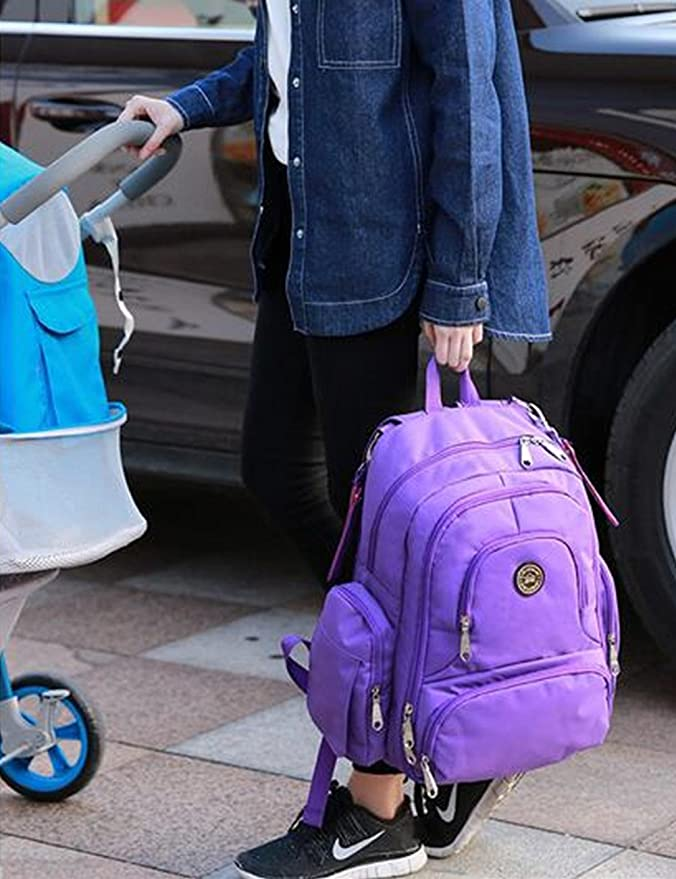 Bebé pañales mochila con clips gran capacidad para silla de paseo por Aidonger: Amazon.es: Bebé