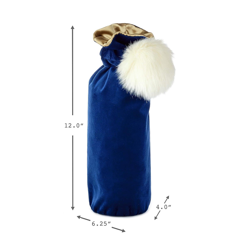 Hallmark Signature Holiday Bottle Gift Bag White Puff