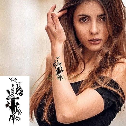 tzxdbh 7Pcs-Etiqueta engomada del Tatuaje a Prueba de Agua en ...