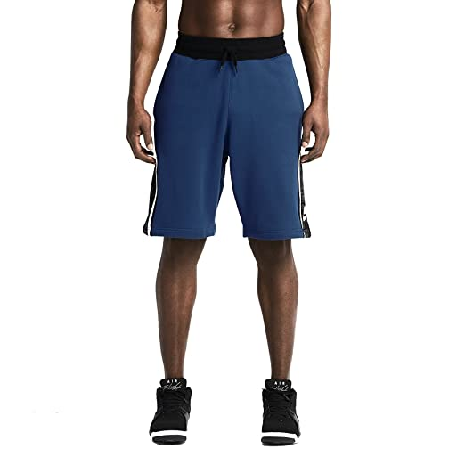 e6f4a0aa0626 Amazon.com  Nike Men s BB Retro Cotton Basketball Shorts Large Blue ...