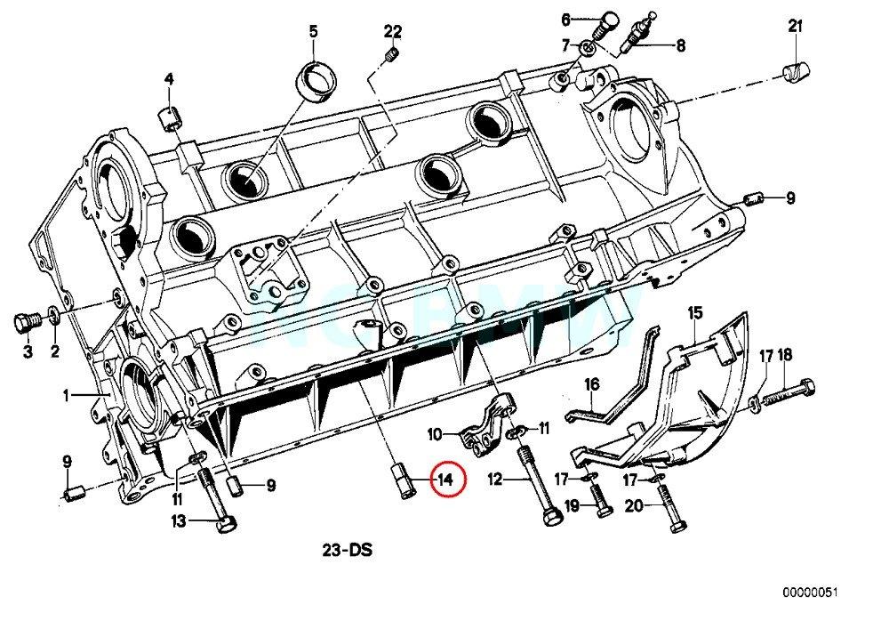 Genuine BMW E36 Cabrio Compact Coupe Oil Spraying Nozzle OEM 11421730619