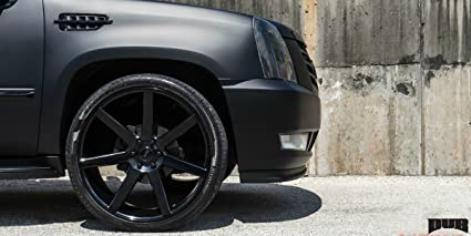 Amazon Com 24 Inch Dub Future Gloss Black Wheels Tire Package
