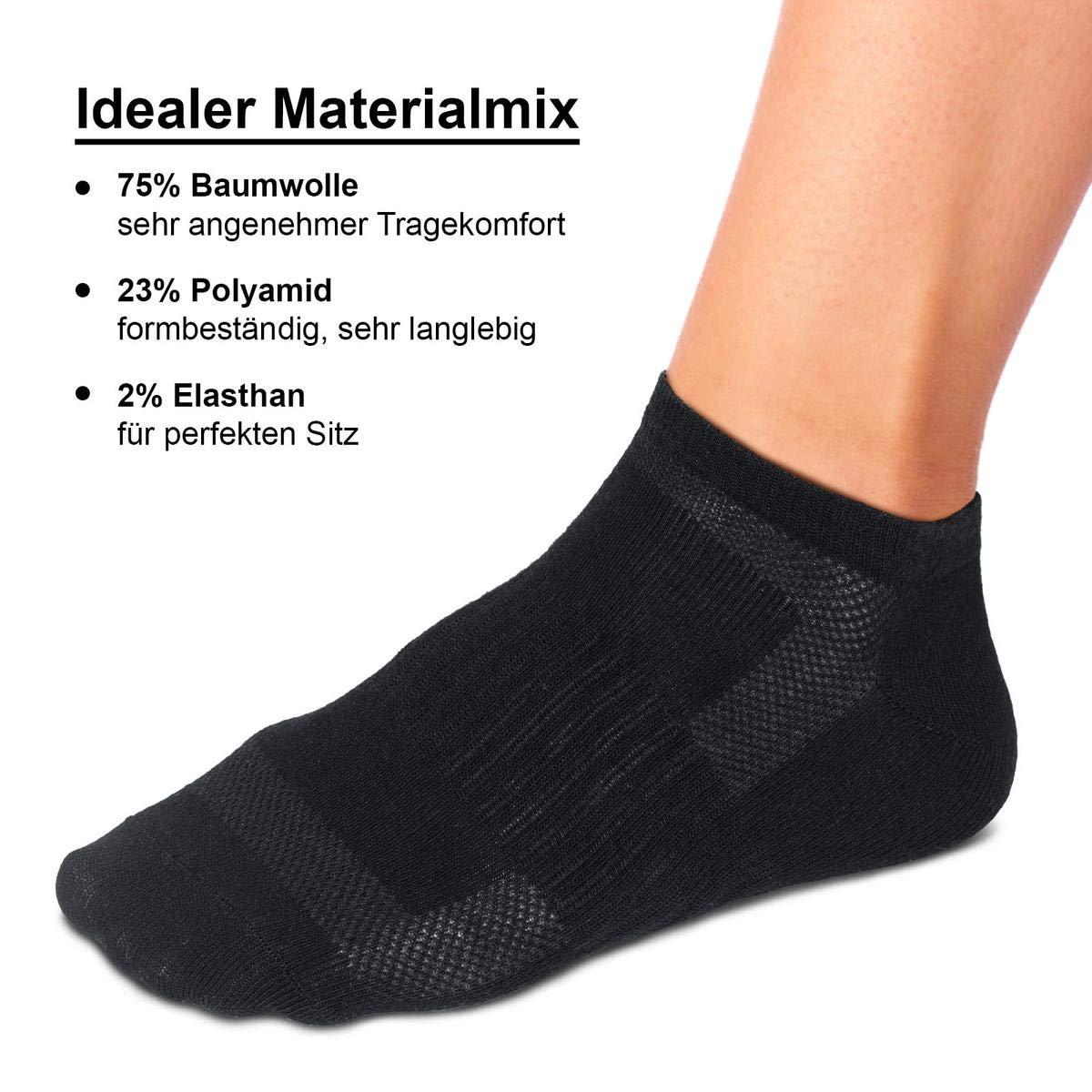 ROYALZ Sneaker Socken 10 Paar für Damen und Herren Füßlinge 10er pack Kurzsocken atmungsaktiv Söckchen leicht bequem