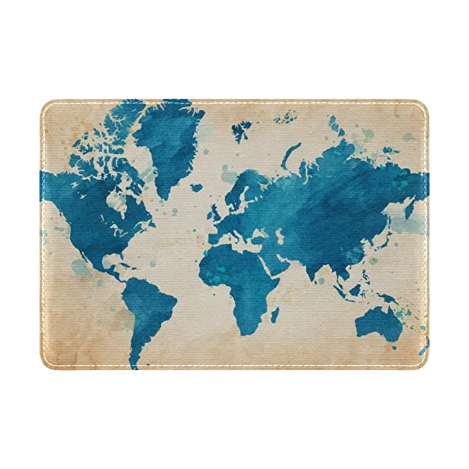 World Map Passport Holder.Amazon Com Cooper Girl Vintage Watercolor World Map Passport Cover