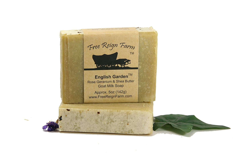 Goat Milk Soap in 5 oz. Bars of Natural Ingredients (English Garden, 1)