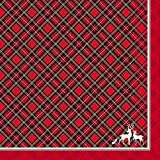 Paper House Productions NAP-0001E Cocktail Napkins, Holiday Plaid (3-Pack)