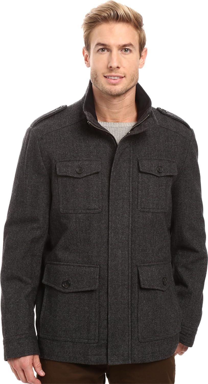Choose SZ//color Tommy Hilfiger Men/'s Wool-Blend Melton Military Ja
