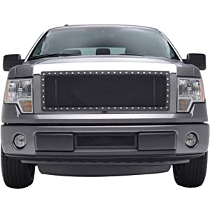 X-restyling 09-12 Ford F-150 Rivet Black Stainless Steel Wire Mesh Grille (XPRN82381)