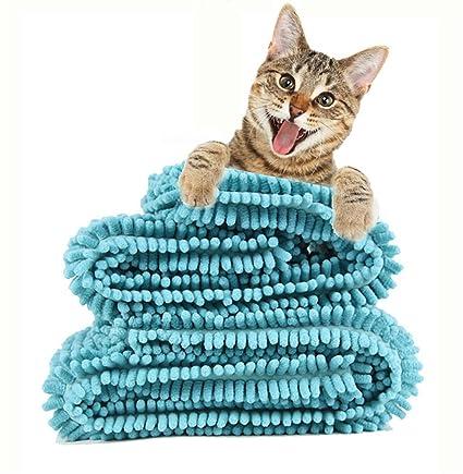 DAN Toalla Absorbente para Mascotas Toalla para Perros Gran Súper Absorbente Artefacto De Secado Rápido Taidijinmao