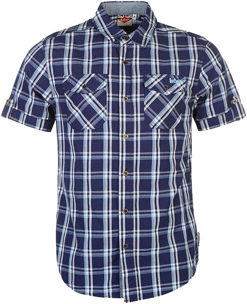 blanco y rojo Camisa de cuadros para hombre Lee Cooper S//S color negro