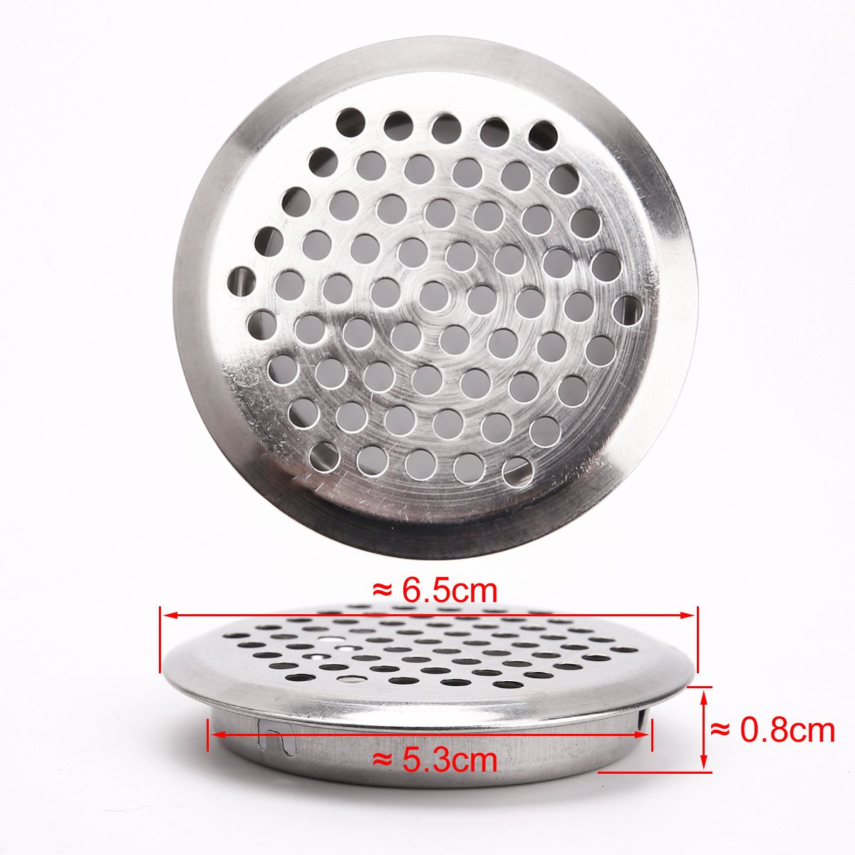 Pack of 20/x 65/mm Stainless Steel Ventilation Grill Ventilation Grille Air Vent