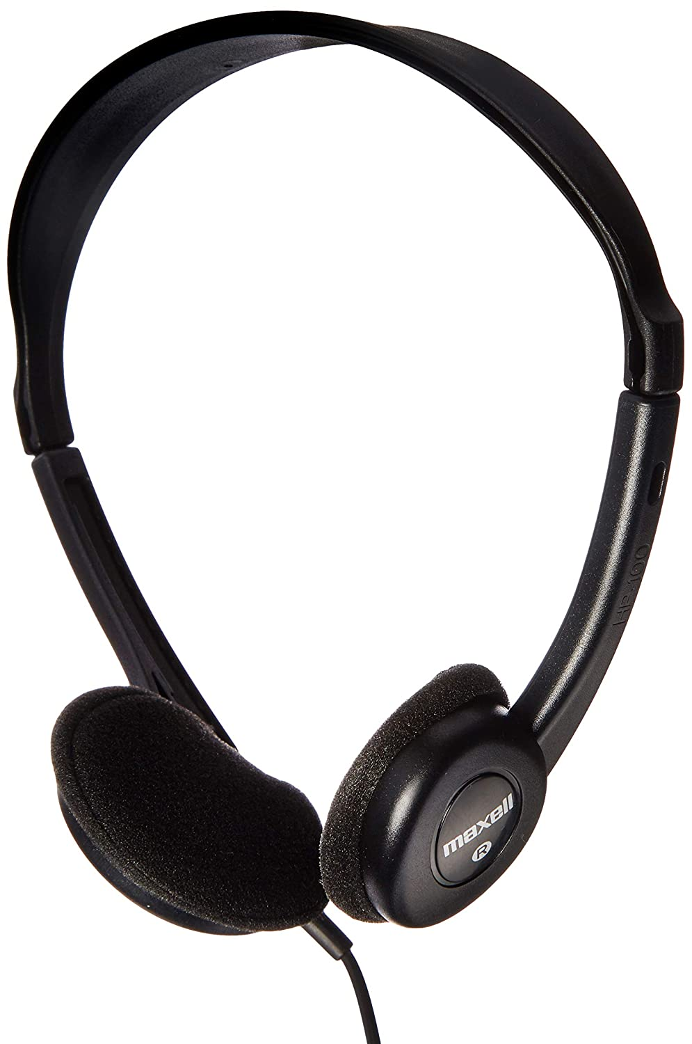 Black Maxell 190319 HP-100 Lightweight Stereo Headphones