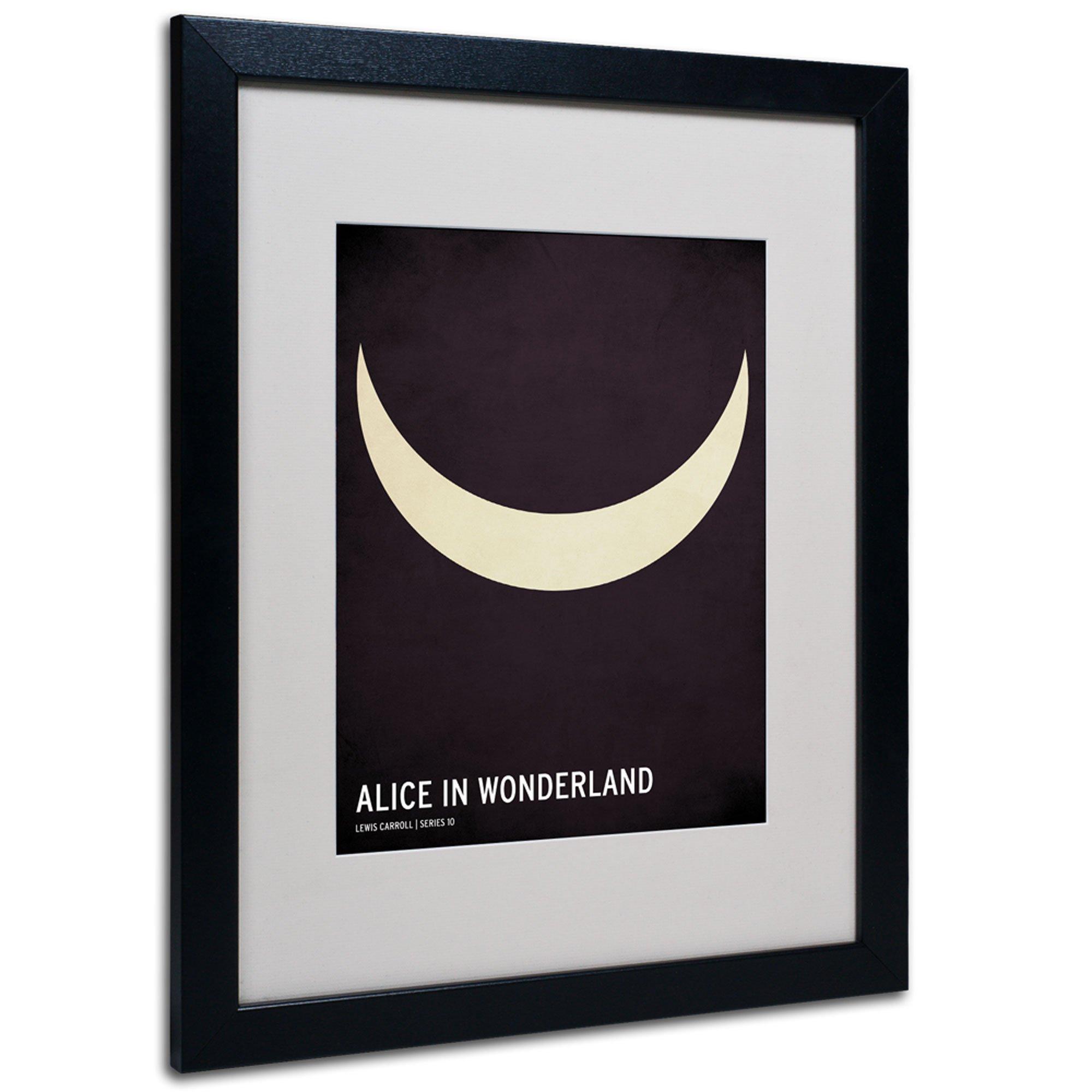Trademark Fine Art Alice in Wonderland Artwork by Christian Jackson in Black Frame, 16 by 20-Inch