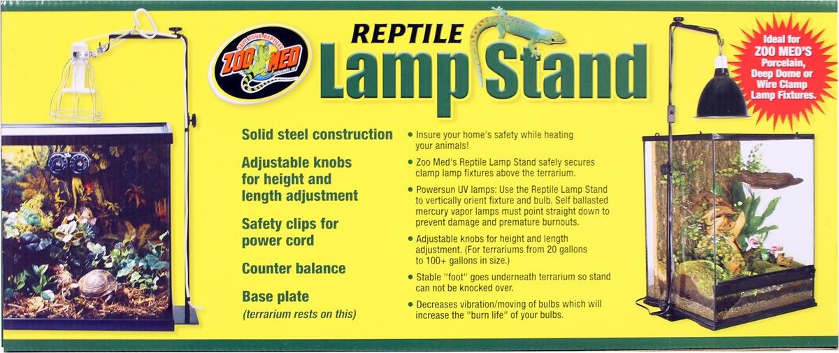 Amazon.com : Zoo Med Reptile Lamp Stand, Full Size : Zoo Meds Reptile Lamp  Stand : Pet Supplies
