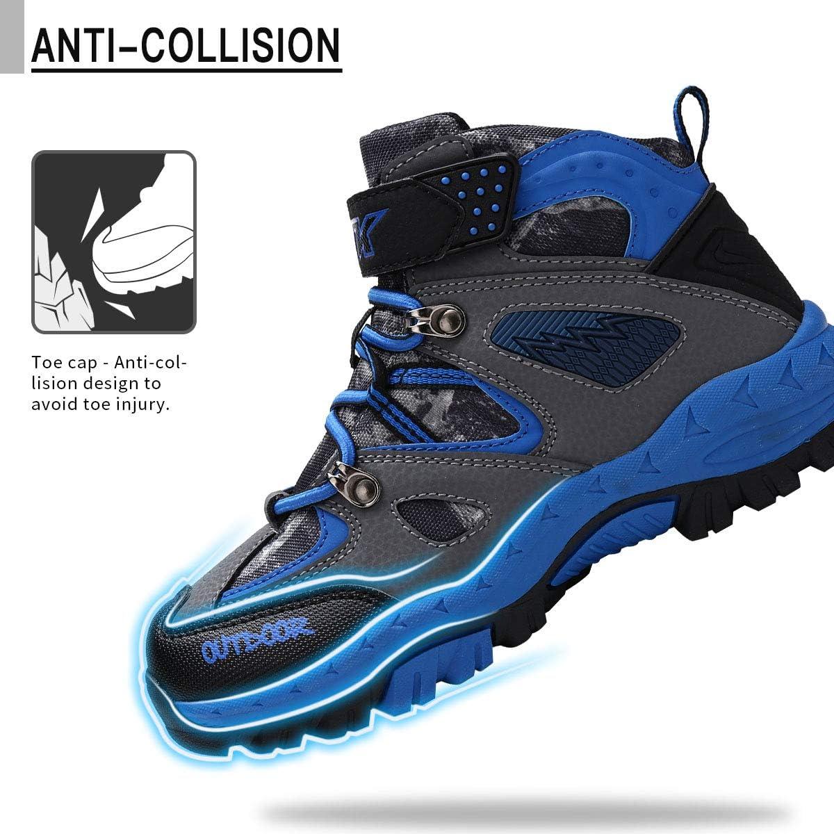 ASHION Chaussures de randonn/ée gar/çon Montantes Fille Trekking Baskets Chaussures de Sport