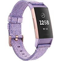 Fitbit Fitness Bracelet Charge 3 Enabled Lavender Woven, Rose Gold/Aluminum