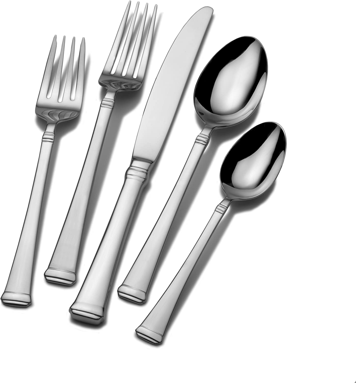 Mikasa Harmony 45-Piece 18/10 Stainless Steel Flatware Set with Serving Utensil Set, Service for 8