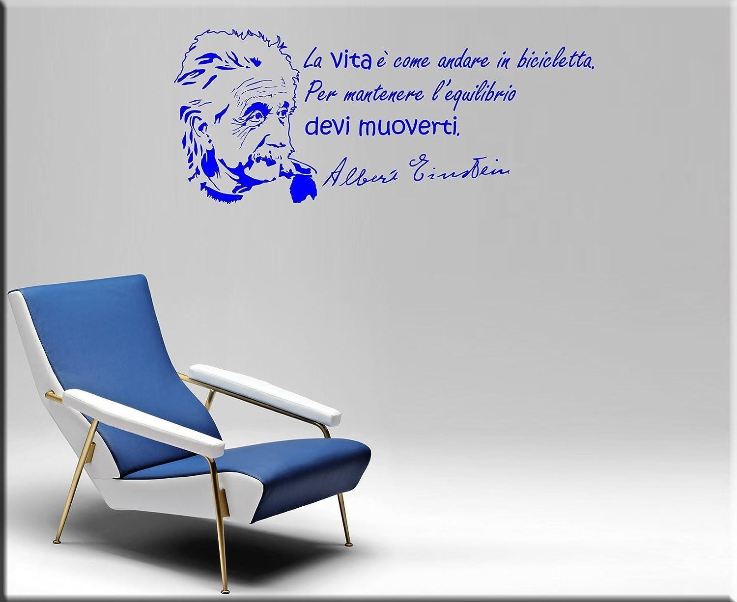 ARREDI MURALI WALL STICKERS STICKER ADESIVI MURALI FRASI ADESIVO DA MURO CON AFORISMA CITAZIONE SULLA VITA ALBERT EINSTEIN