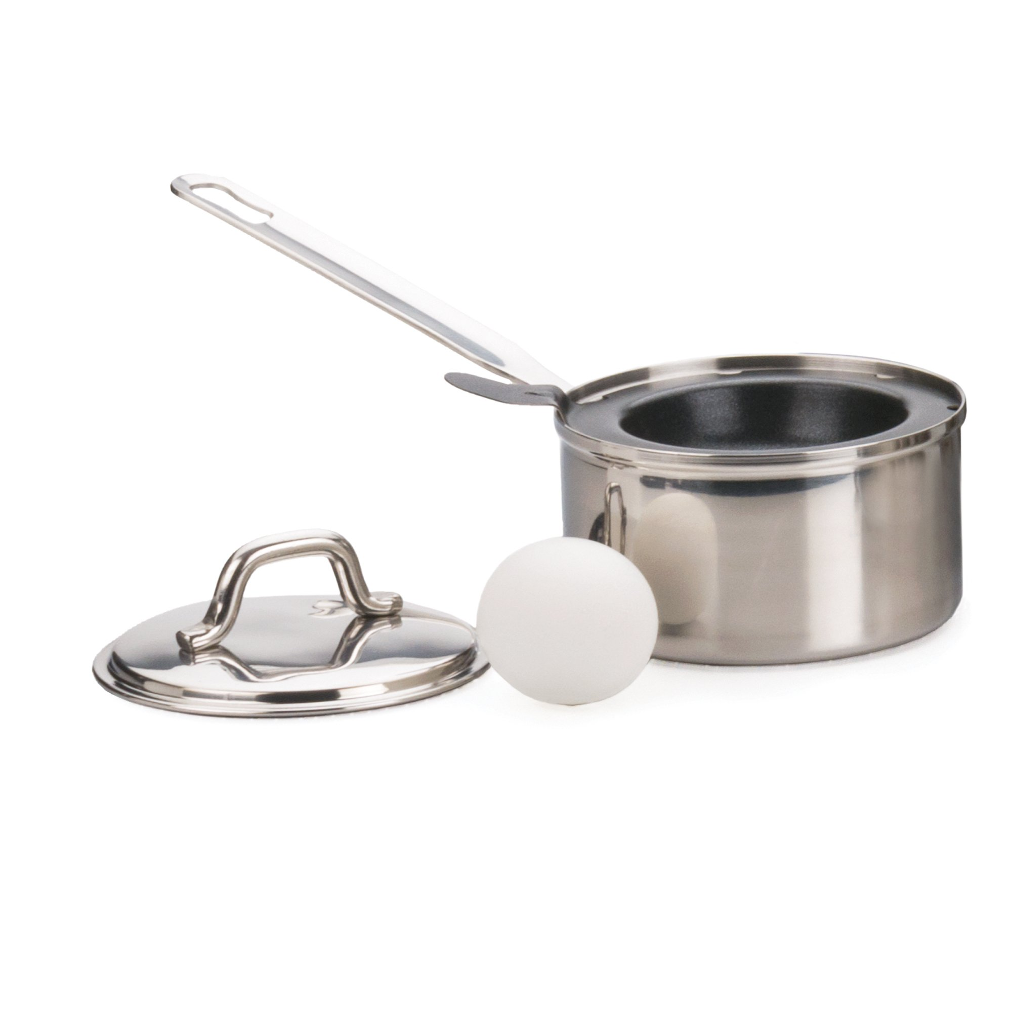 RSVP International Endurance Stainless Steel Poacher,Black & Silver,1-Egg by RSVP