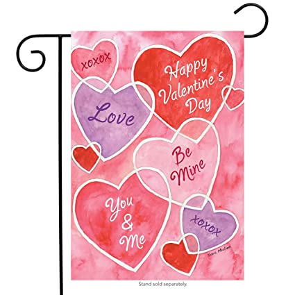 Valentineu0027s Messages Garden Flag Hearts Holiday 12.5u0026quot; X 18u0026quot; ...