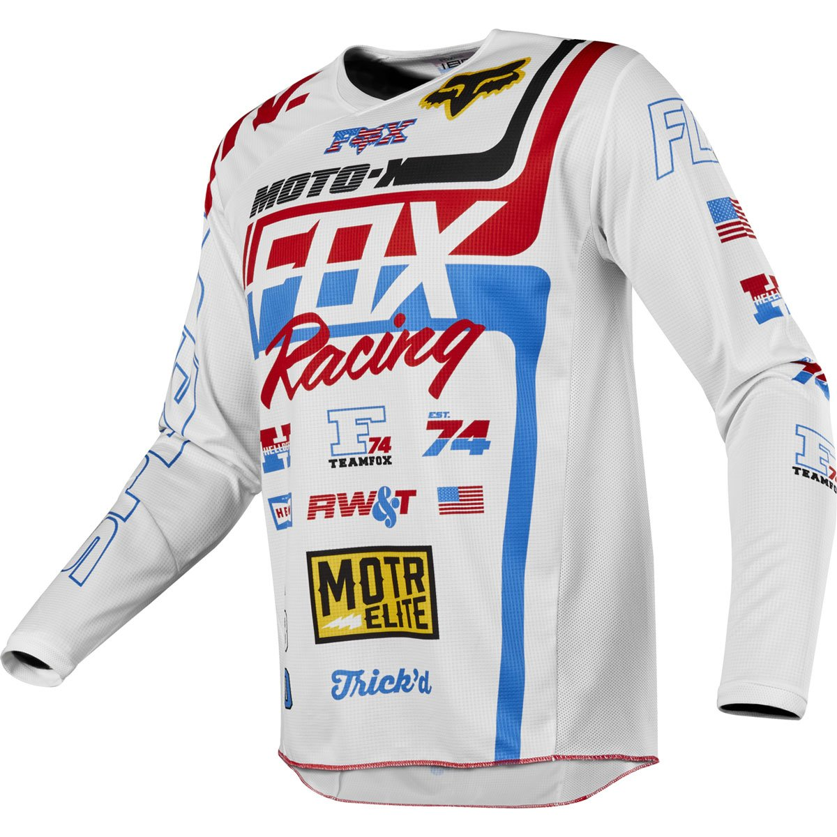 Fox Racing 2018 180 Jersey - Red White & True SE (XX-LARGE) (ONE COLOR)