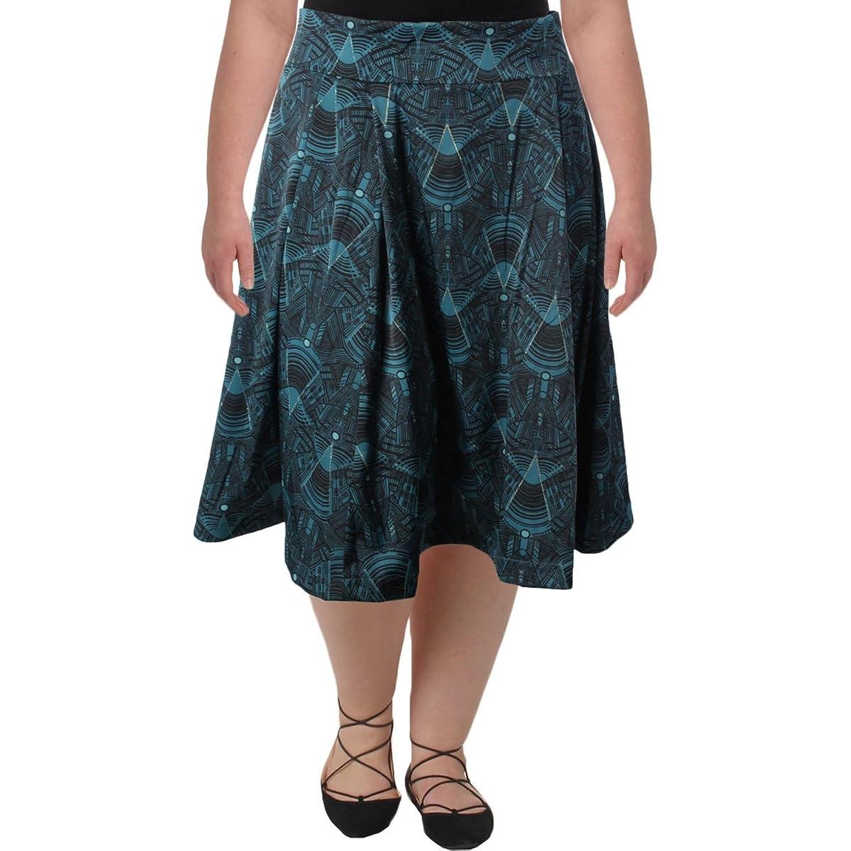9fb459f4d Melissa McCarthy Seven7 Womens Plus Printed Metallic A-Line Skirt ...