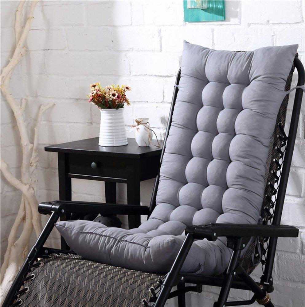 LELI Chair pads,Breathable chair pad,Anti-slip cushion,Garden chair pads Bay window chair cushion Thickened Apply to Garden Folding chair Dining chair Beach chair-A 48x155cm(19x61inch)