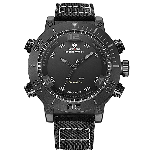 WEIDE Reloj Marca hombre relojes analógico Digital cuarzo Casual Deportes reloj de pulsera impermeable militar Ejército