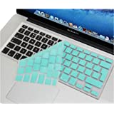 Se7enline LIGHT BLUE Silicone Keyboard Cover Skin (Europe Layout UK Version) for Macbook Pro with Retina Display 13, 15, 17 inch /Macbook Air 13-Inches, RobinEggBlue/Turquoise Blue