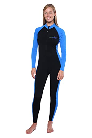 07d19bb9d73ca Amazon.com: Women UV Protection Swimwear Full Body Stinger Swimsuit  Chlorine Resistant UPF50+: Clothing