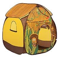 """LUDI - Tente pop-up """"Jungle""""110 x 110 x 140 cm. Dès 2 ans. Décor pour jouer à l'aventurier. Se plie et se range dans un sac. Tissu résistant pour une utilisation en intérieur et en extérieur - 5203"""
