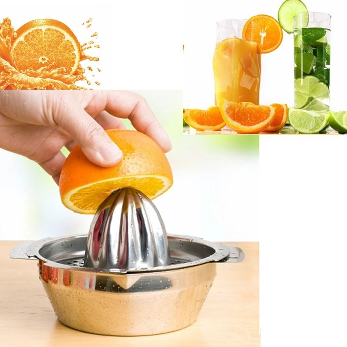 Kitchen Home Lemon Fruits Citrus Juicer Hand Press Squeezer Tool Stainless Steel by Hand Juicers
