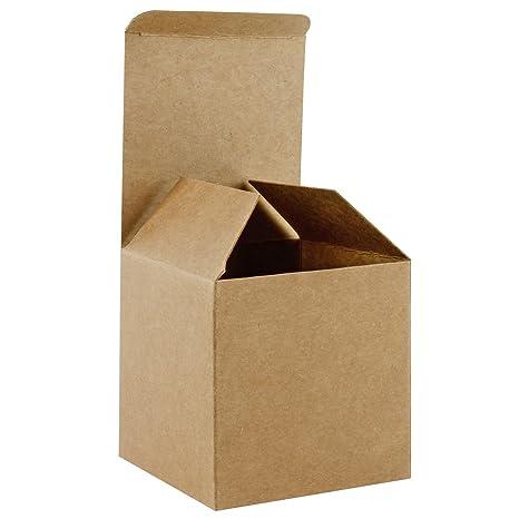 RUSPEPA 20Pack 8 X 8 X 8Cm Caja De Regalo Reciclada De Cartón Cuadrado, Cajas