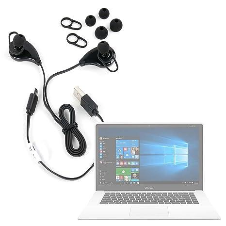 DURAGADGET Auriculares inalámbricos en Color Negro para Portátil Chuwi LapBook Air/InnJoo LeapBook A100/
