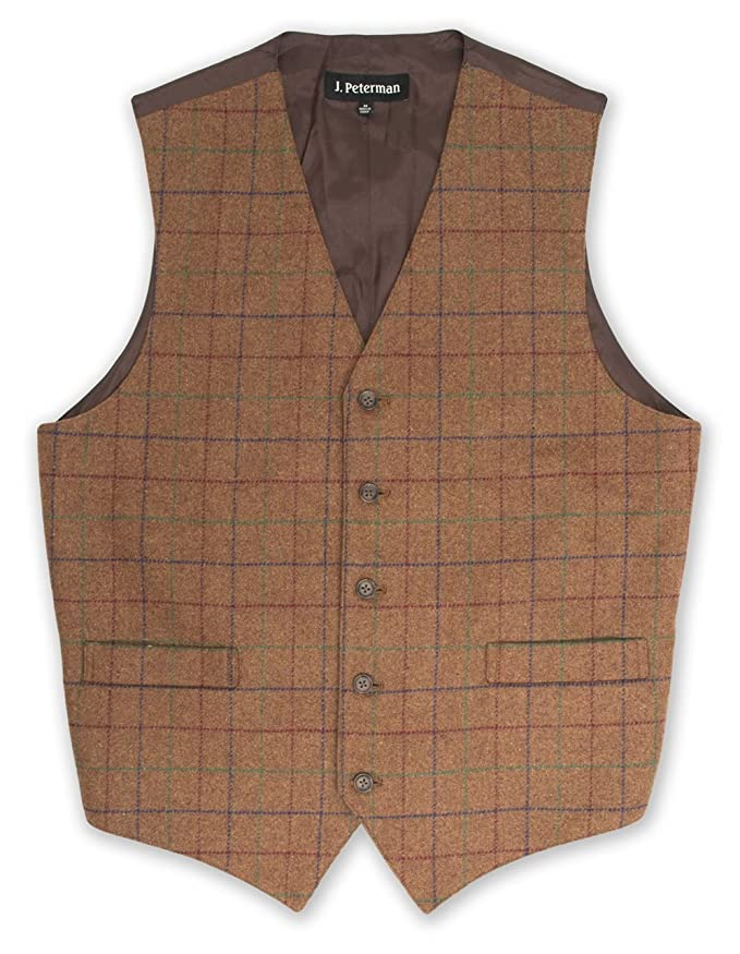 Men's Vintage Vests, Sweater Vests Tweed Waistcoat $171.35 AT vintagedancer.com