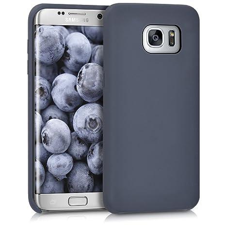 kwmobile Funda para Samsung Galaxy S7 Edge - Carcasa de [TPU] para teléfono móvil - Cover [Trasero] en [Azul Oscuro]